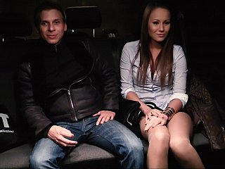Car sex with a Hungarian chick