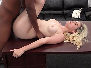 Angelic blonde gets blacked