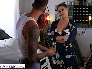 Killing hot milf with chubby boobs Ryan Keely bangs handsome auto mechanic