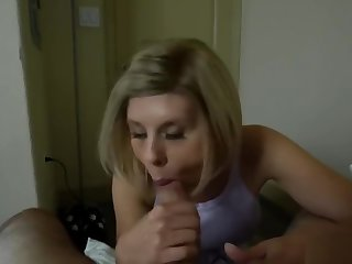 Frustrated MILF stepmother cant my obese cock