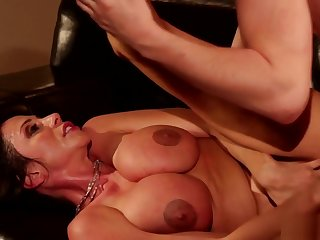 Busty stepmom gets hairy pussy fucked