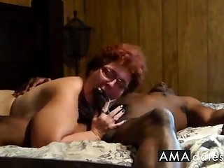 Cuckold  Amateur granny suck up the addition of have sexual intercourse up black man.