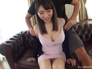 Takarada Monami screams from pleasure while will not hear of friend fucks will not hear of