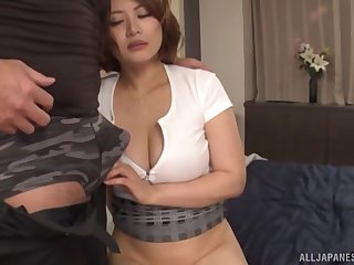 After fingering and dick eating Asian girl wants to bristles a penis